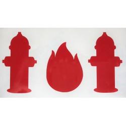 Stickers brandweer rood