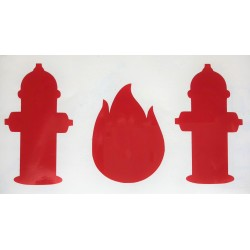 Stickers brandweer