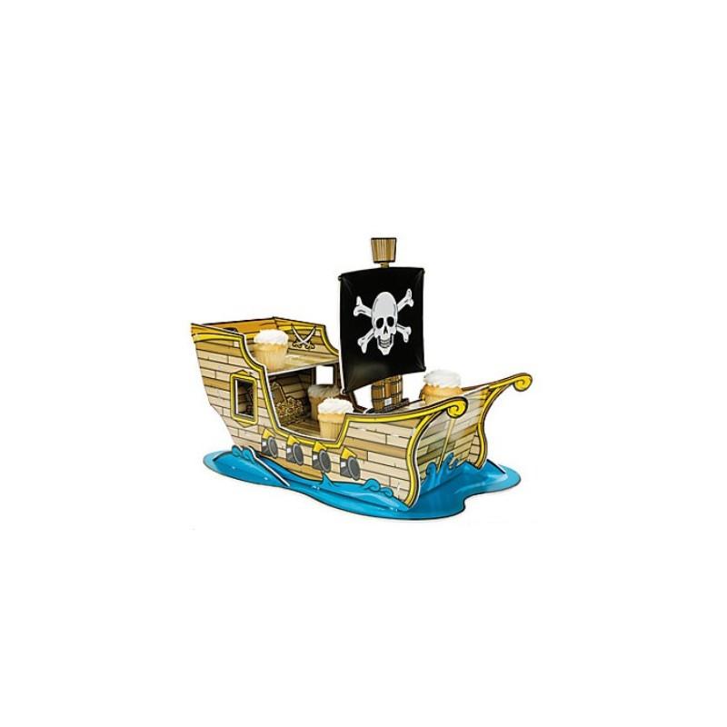 Cupcake standaard piraten boot