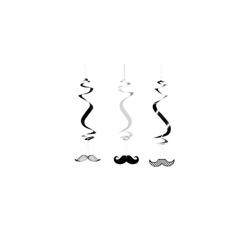 Hanging swirls mustache