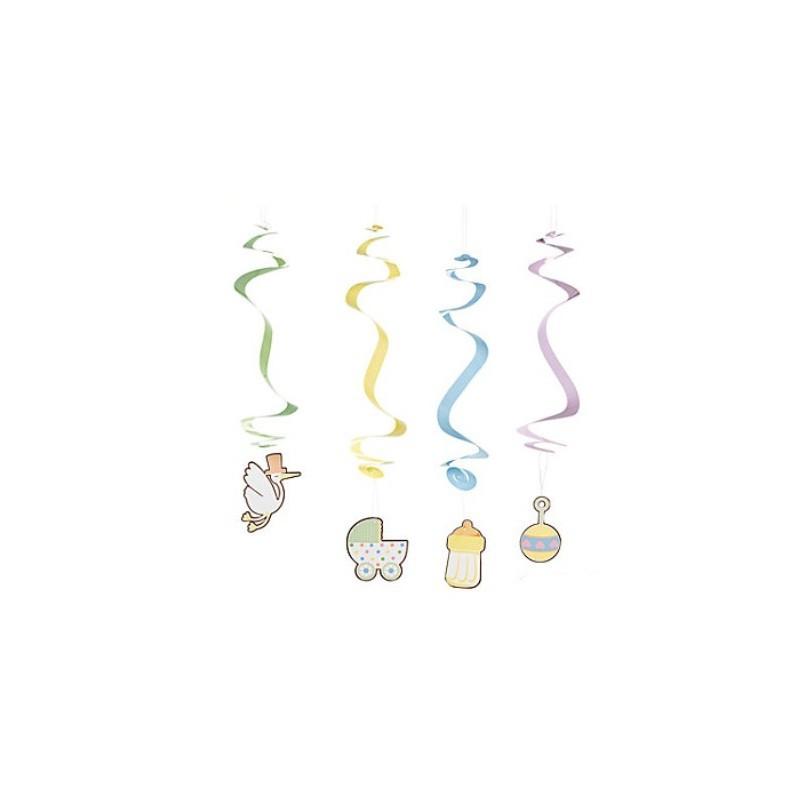 Hanging swirls babyshower