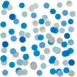 Confetti blauw met zilver