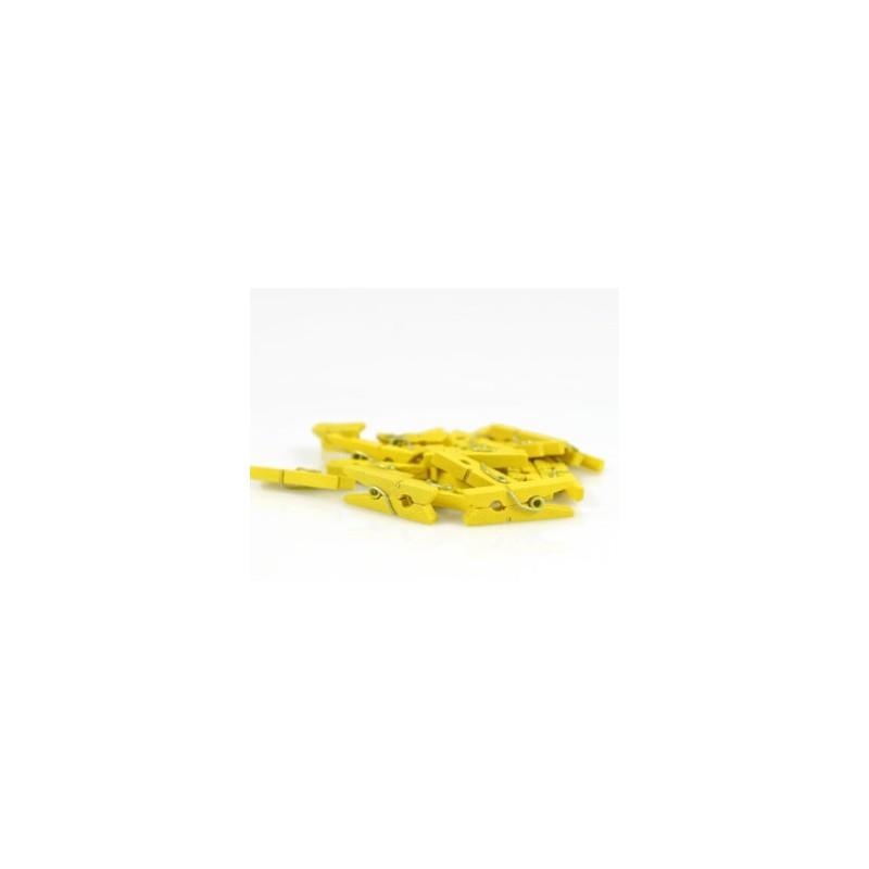 Kleine knijpertjes geel