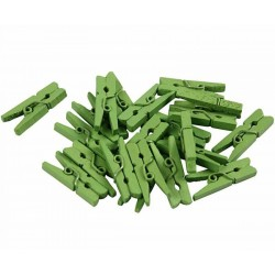 Kleine knijpertjes groen