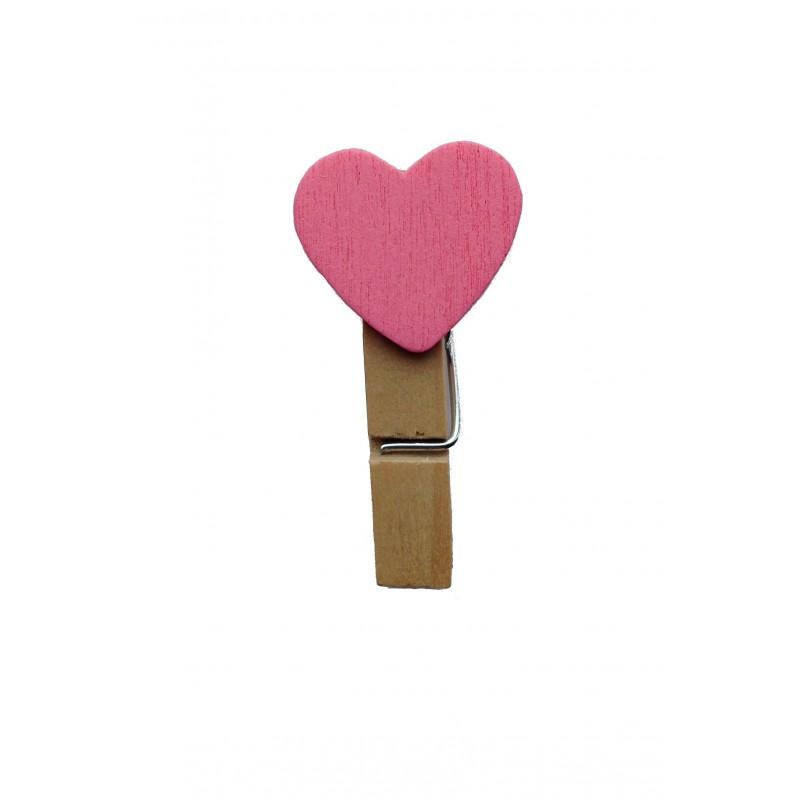 Kleine knijpertjes roze hart