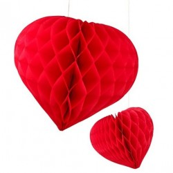 Honeycomb hart rood