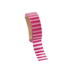Washi tape knalroze gestreept