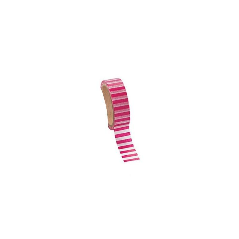 Washi tape hot pink striped