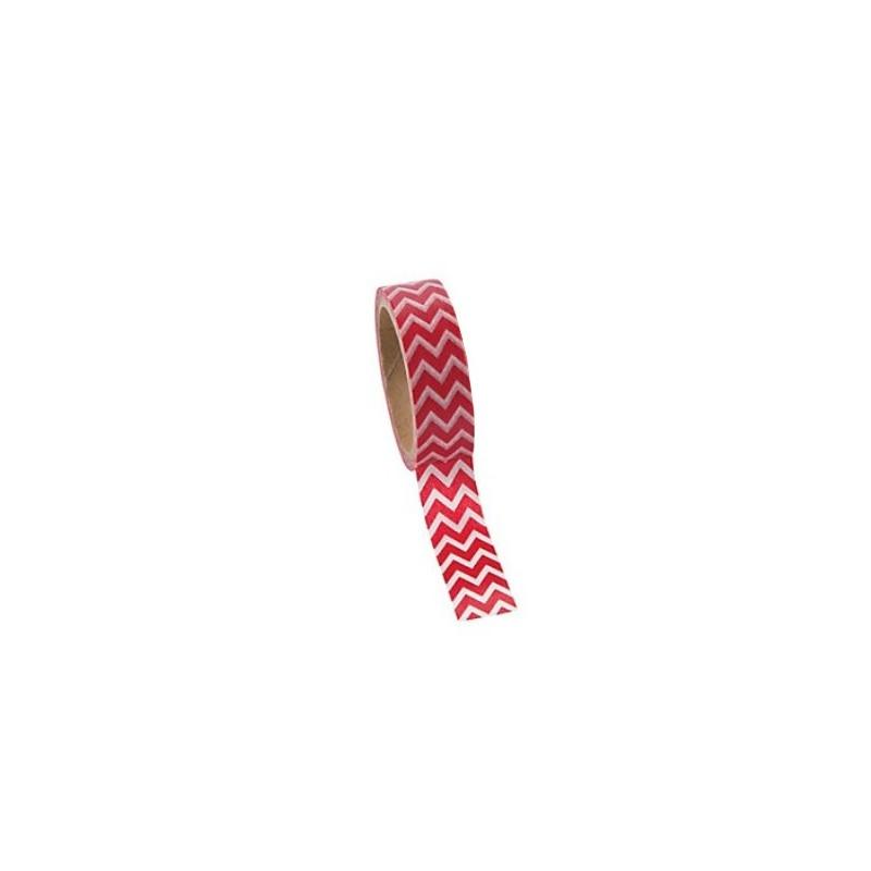 Washi tape rood chevron