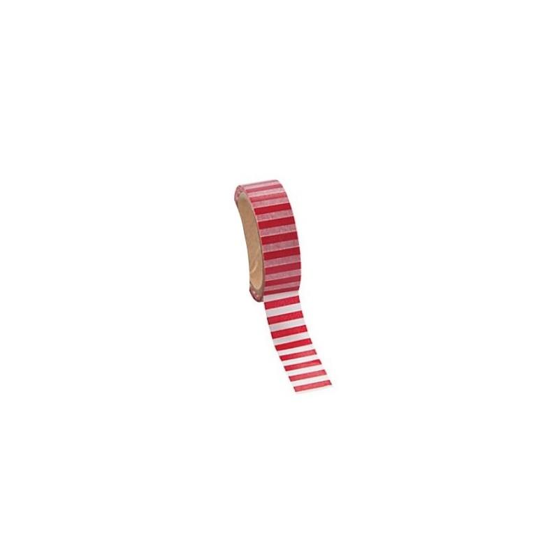 Washi tape rood gestreept