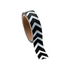 Washi tape zwart chevron
