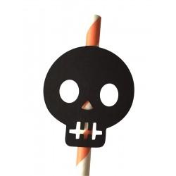 Black paper skulls