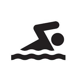 Planstickers swimming