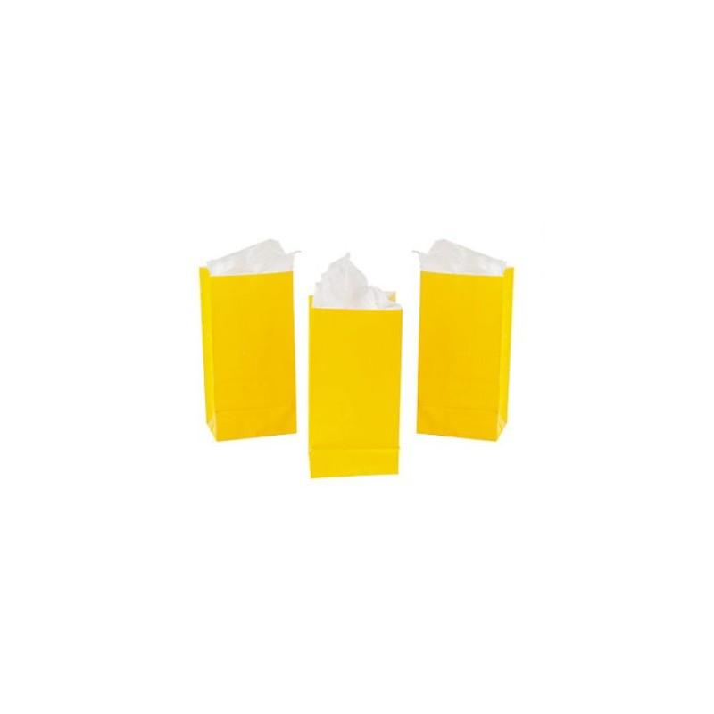 Uitdeelzakjes geel