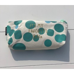 Pencilcase dotted 'It's my favorite bag'