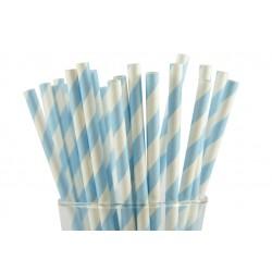 Paper straws light blue...
