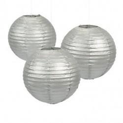 Paper lantern silver