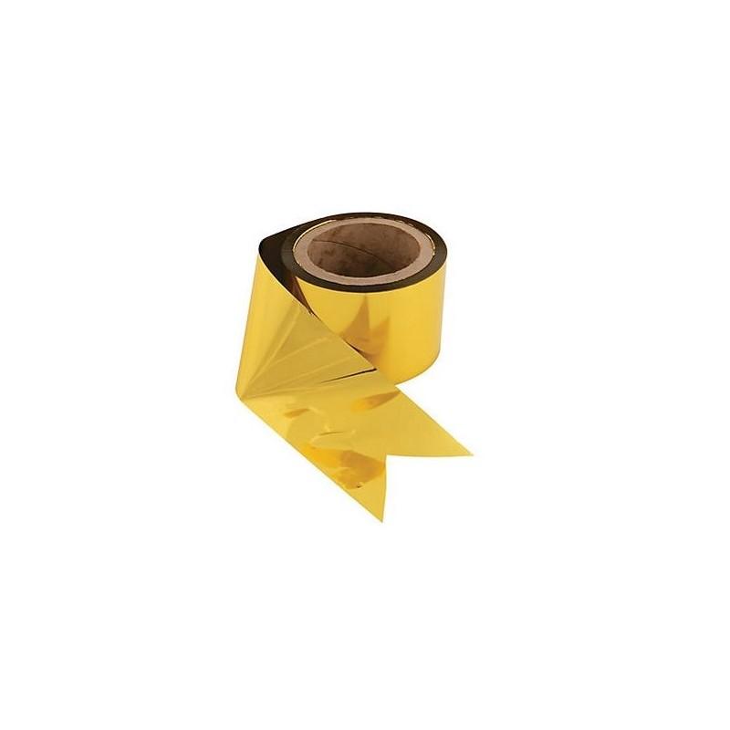 Gold foil streamer