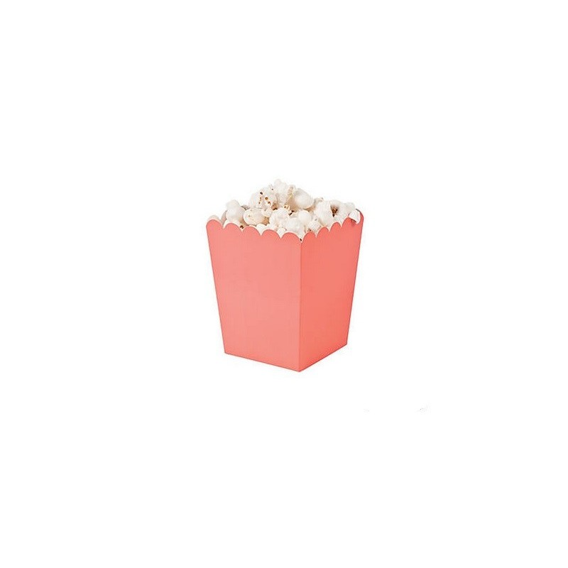 Mini popcorn boxes living coral