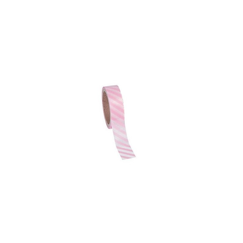 Washi tape pink diagonally striped
