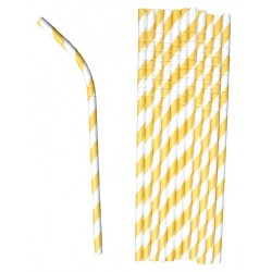 Bendable paper straws...