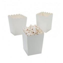 Kleine popcorn bakjes wit