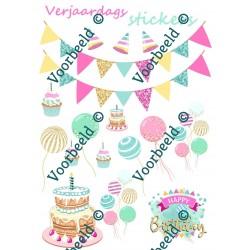 Verjaardagsstickers