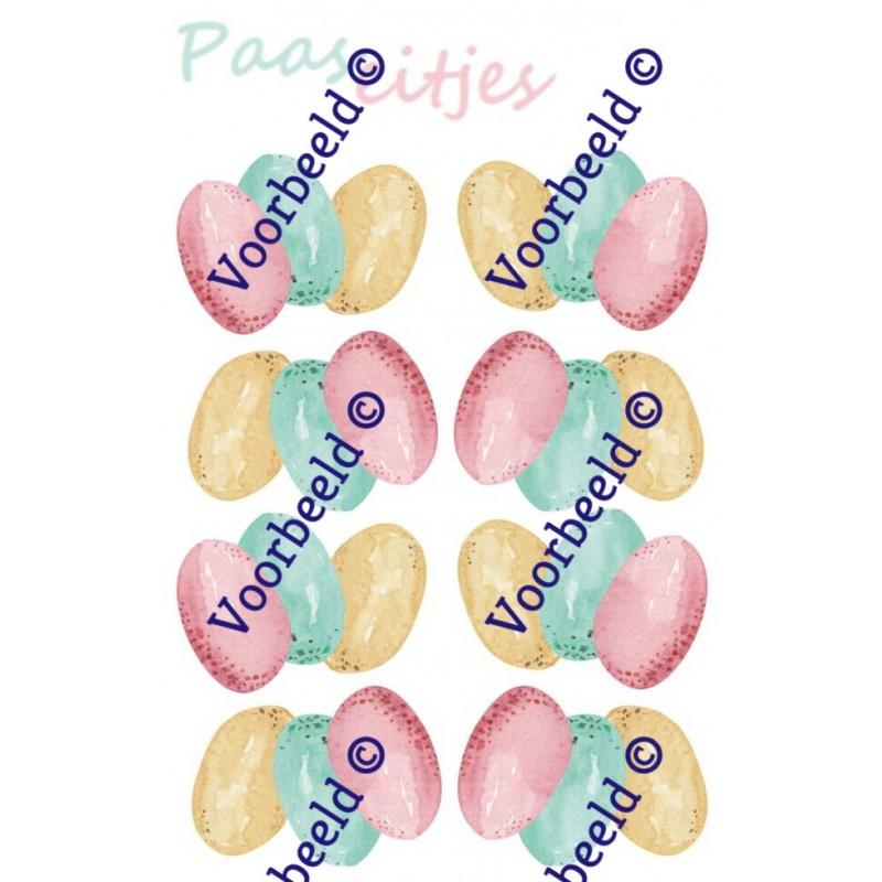 Stickers met paaseitjes