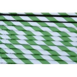 Buigbare papieren rietjes groen gestreept