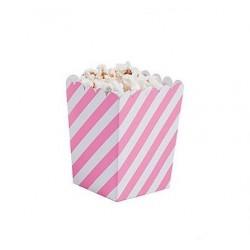 Kleine popcorn bakjes roze...