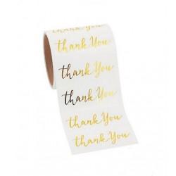 Golden foil stickers 'thank you' @joyenco.nl
