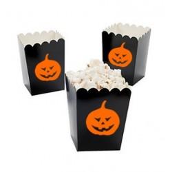 Kleine popcorn bakjes zwart met pompoen @joyenco.nl