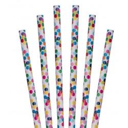 Paper straws confetti dotted @joyenco