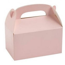Treat boxes light pink