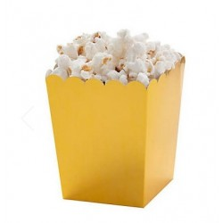 Mini popcorn boxes gold metallic @joyenco