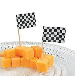 Cocktail picks about 100 pieces checkered flag @joyenco.nl