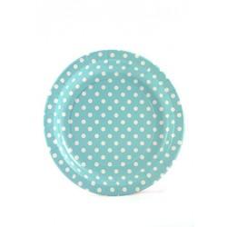 Light blue paper plates...