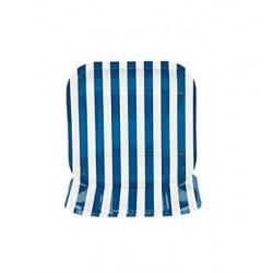 Square paper plates blue striped