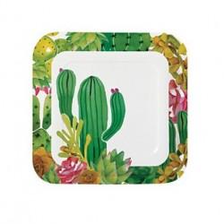 Kartonnen dinerborden cactus