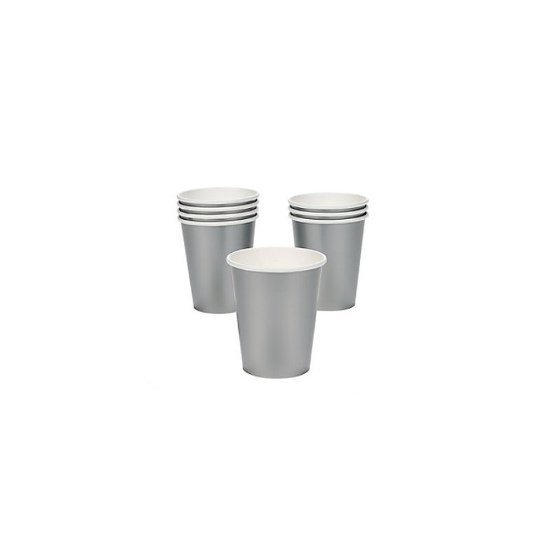 Paper cups silver