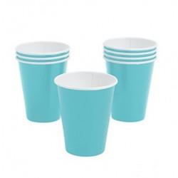 Paper cups light blue