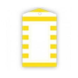 Kadolabels geel gestreept