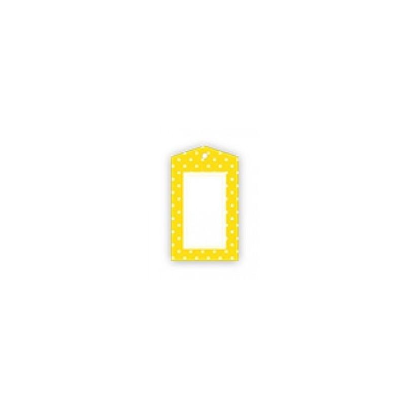 Kadolabels geel gestippeld