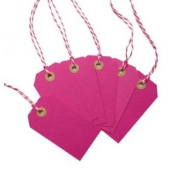 Hot pink gift tags