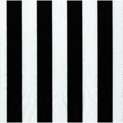 Servetten zwart gestreept @joyenco.nl