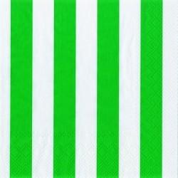 Servetten donker groen gestreept