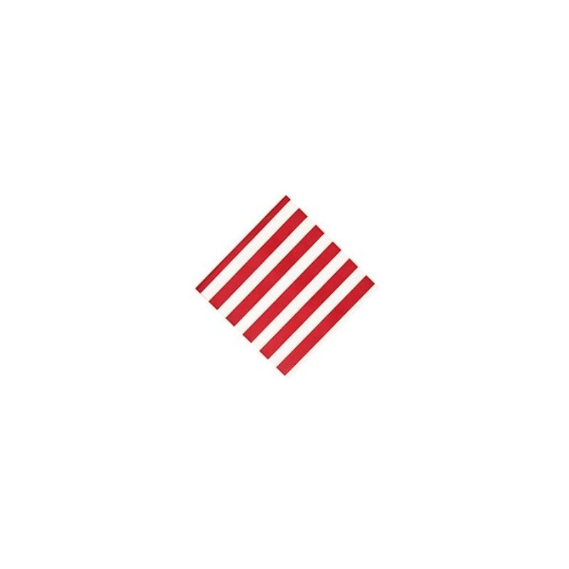 Napkins red striped