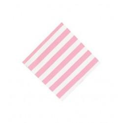 Servetten roze gestreept