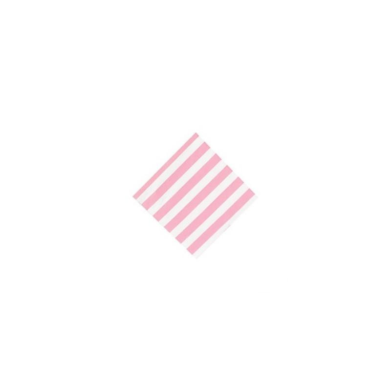 Napkins pink striped