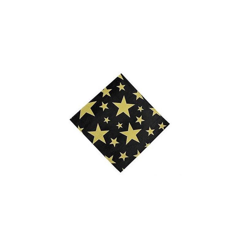 Napkins black with golden stars
